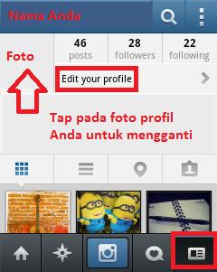 Cara Menggunakan Instagram Cara Edit Profile