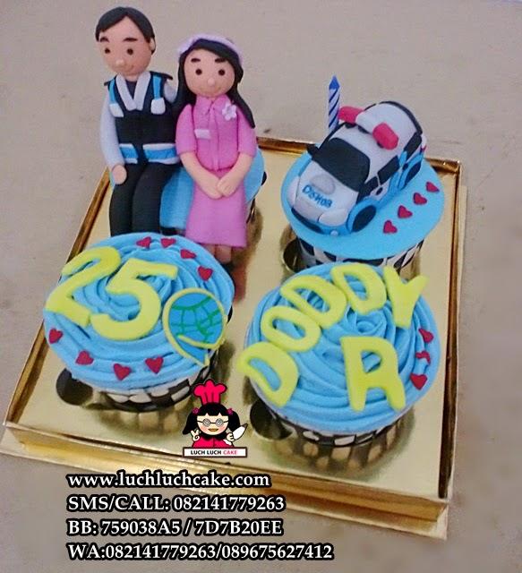 Cupcake Ulang Tahun Tema Dishub Daerah Surabaya - Sidoarjo