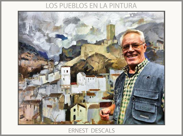 PUEBLOS-PINTURAS-PAISAJES-PUEBLO-PINTURA-FOTOS-ARTISTA-PINTOR-ERNEST DESCALS-