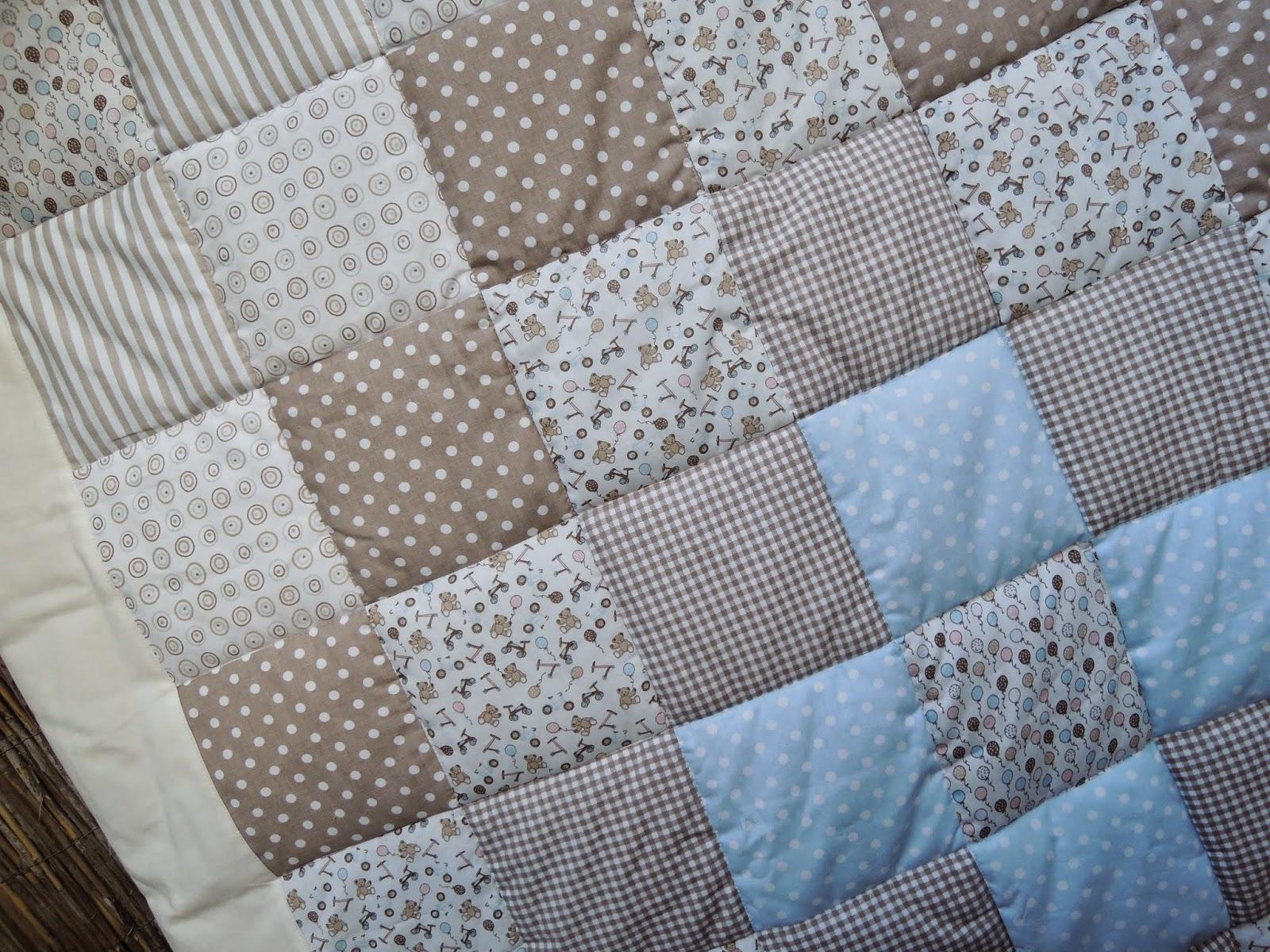 d\'Inge: Patchwork - Babydecke für Jonathan beige/braun/weiss ...