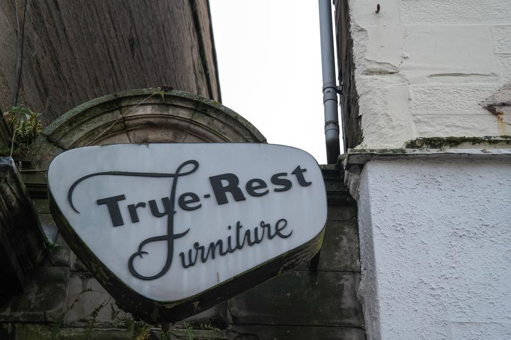 True-Rest Furniture sign