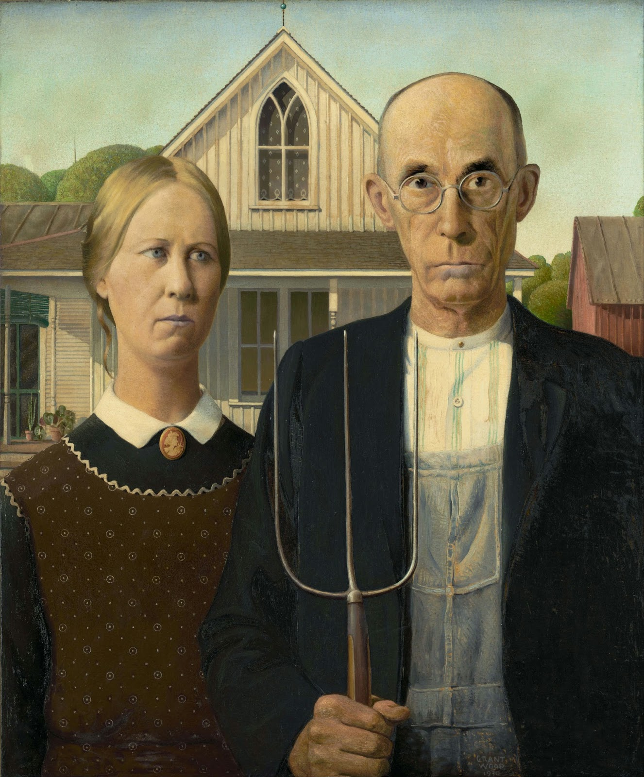 1930s American Paintings 1930 American Gothic