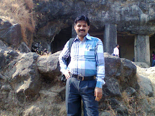 santosh at Elephanta