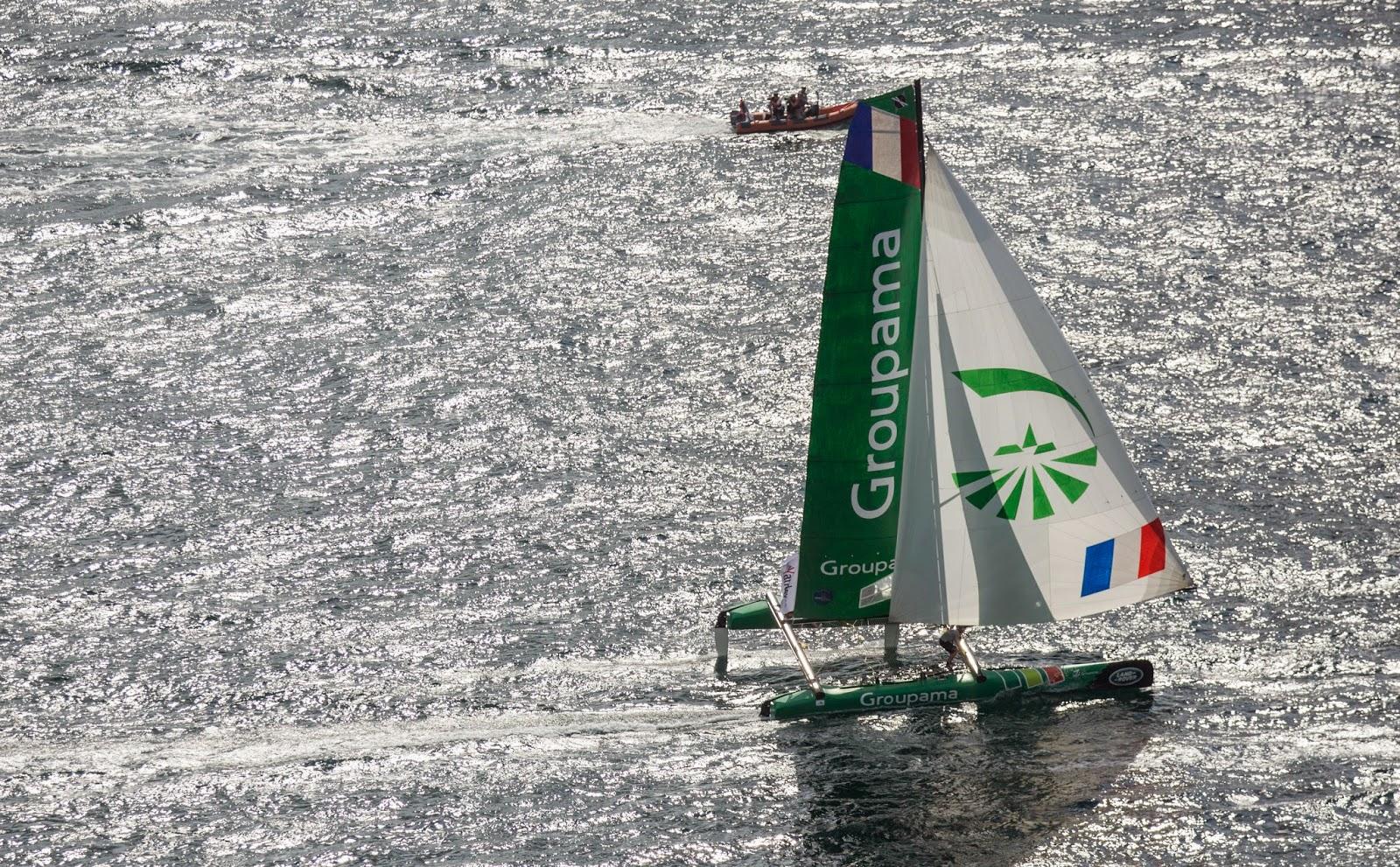 Franck Cammas reprend la barre de Groupama 40 à Nice sur les EXSS