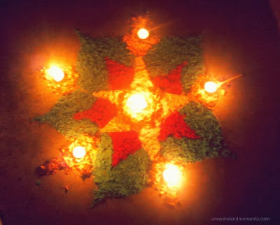 rangoli, rangoli with mud lamps, mud lamps, diwali, diwali decoration in india