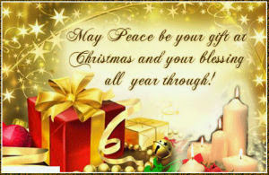 Merry Christmas to ALL... May you have peace and joy in your hearts all year long.