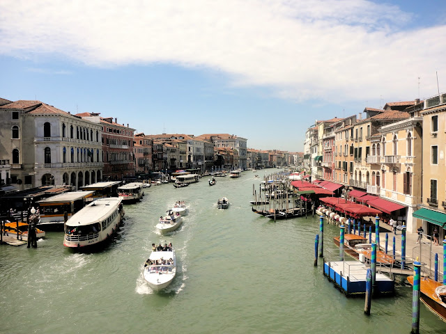 The Grand Canal from the Rialto Bridge, Venice, Italy