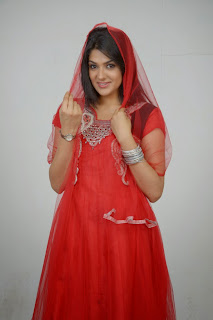 Actress Sakshi Choudhary Latest Picture Gallery in Red Salwar Kameez 0025.JPG