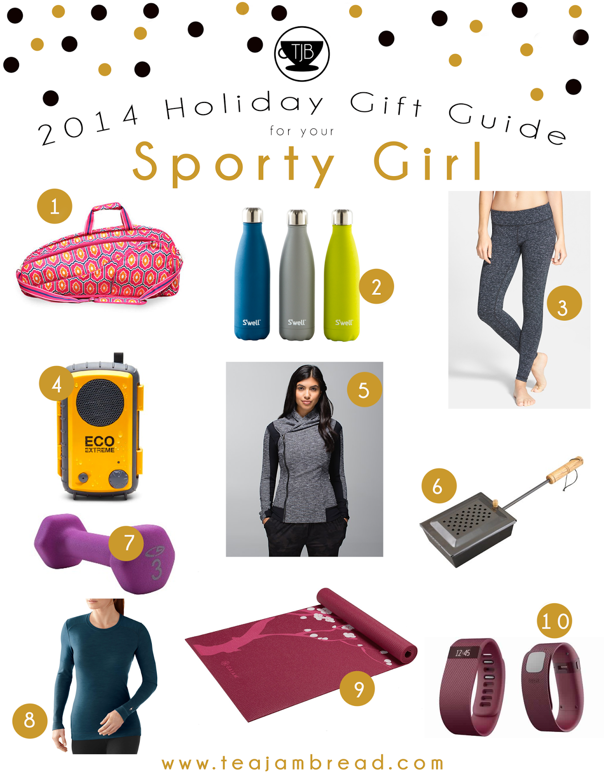 Tea with Jam and Bread: 2014 Holiday Gift Guide: Sporty Girl