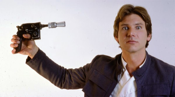 Harrison Ford como Han Solo en la películas clásicas de Star Wars