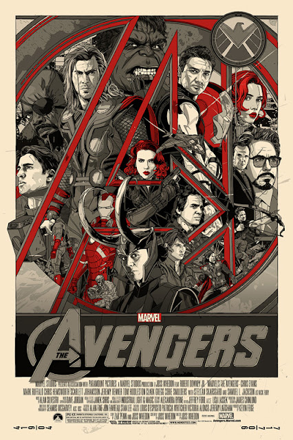 Mondo - The Avengers Movie Variant Screen Print by Tyler Stout