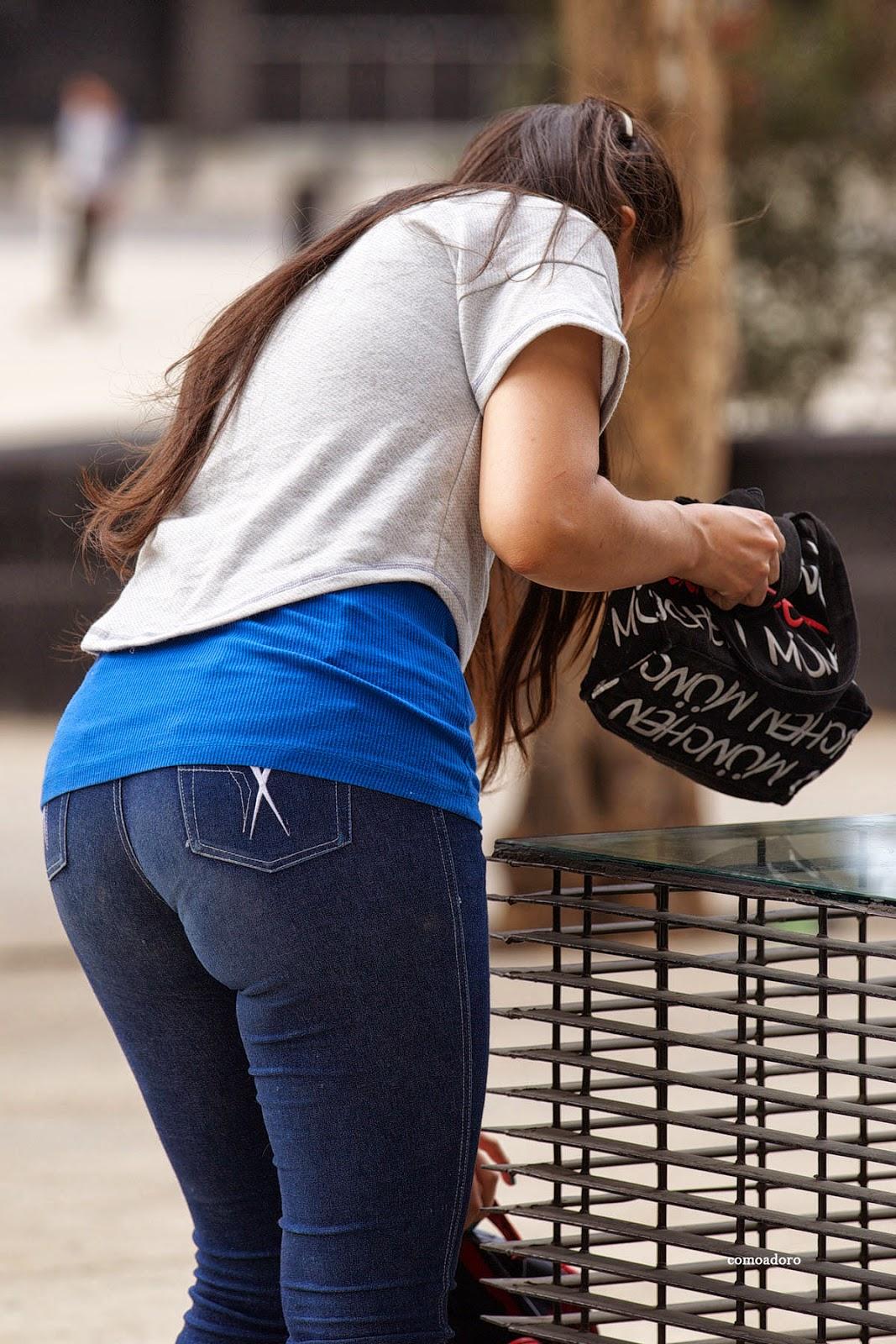 Ni As Culonas En Jeans Ajustados