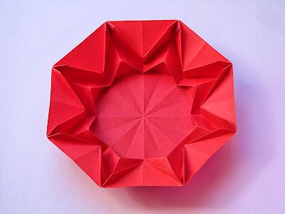 Origami sole-infinito 2 retro -Infinity Sun 2, back, by Francesco Guarnieri