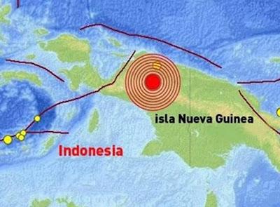 Epicentro sismo 6,0 grados Nueva Bretaña, Papúa Nueva Guinea