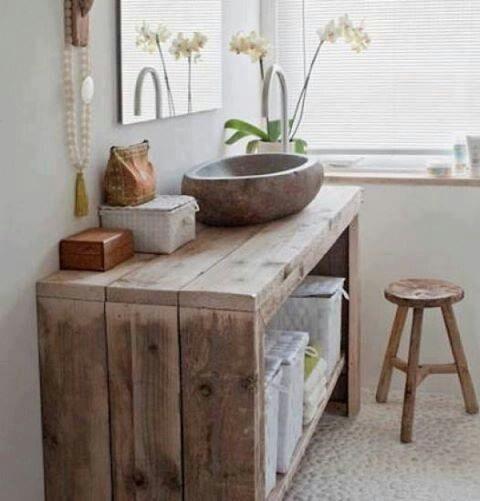10 banheiros e lavabos pequenos reciclar e decorar blog de decora o e reciclagem - Deco badkamer meubels ...