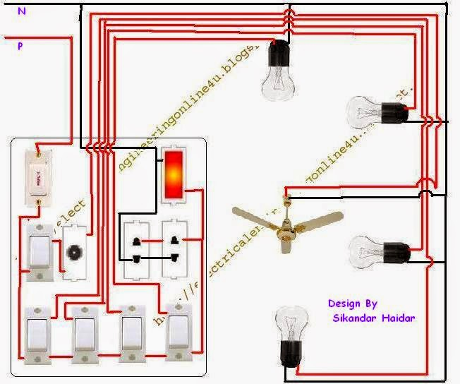 how to wire a room in home wiring electrical online 4u rh electricalonline4u com electrical wiring a room diagram Bedroom Wiring-Diagram
