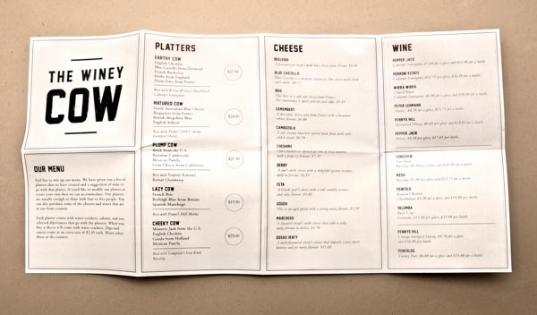 and packaging 28 the millhouse menu design via stickman designs