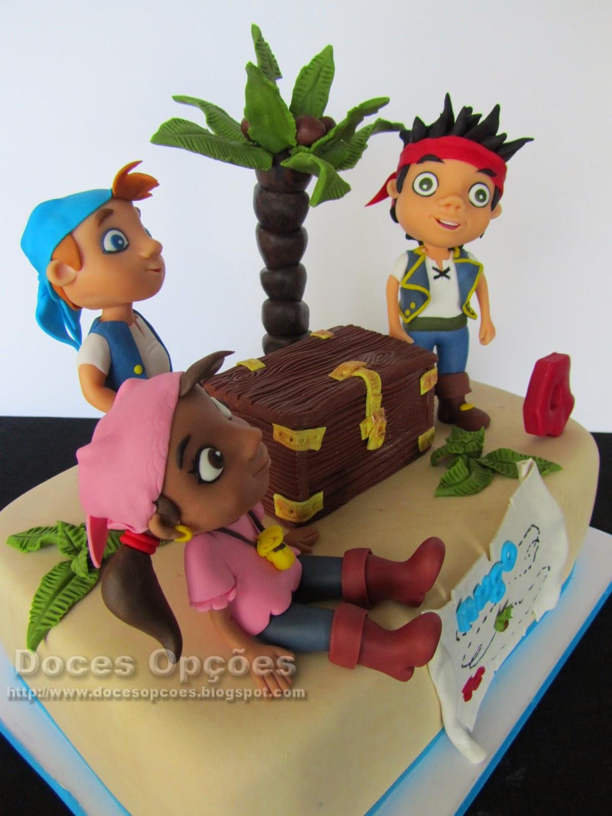 Gâteau d'anniversaire avec Jake et les Pirates du Pays imaginaire