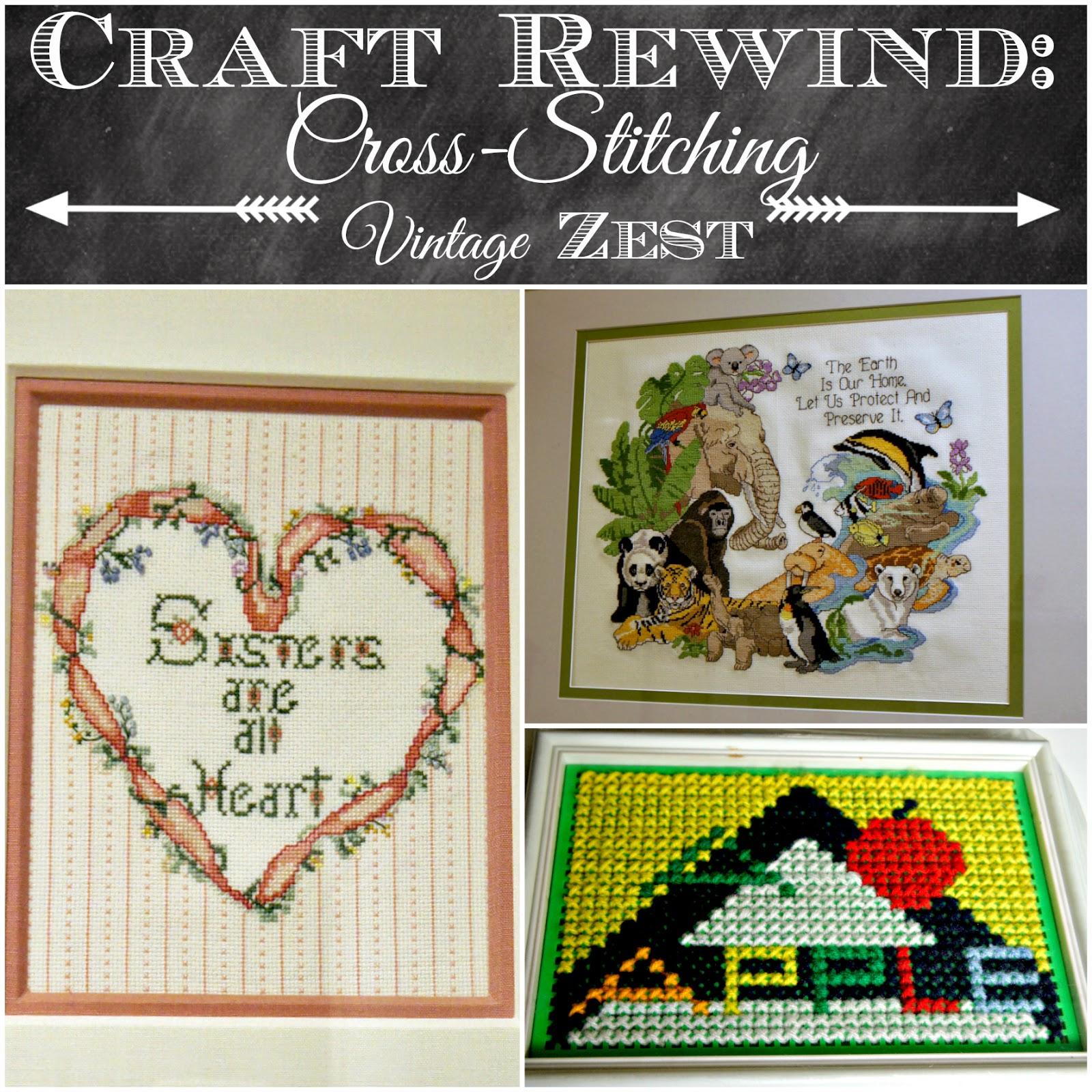 Craft Rewind: Cross-Stitching on Diane's Vintage Zest!