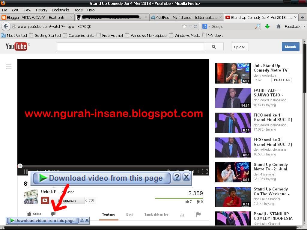 tampilan youtube screen download idm
