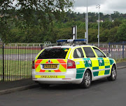 . maximum to have a rapid response North West NHS ambulance vehicle parked .