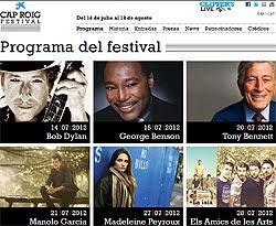 Bob Dylan, Ben Harper o James Morrison al Festival Cap Roig