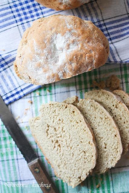 żytni chleb, żytni chleb na proszku, chleb pszenno-żytni, przepis na prosty chleb, szybki chleb