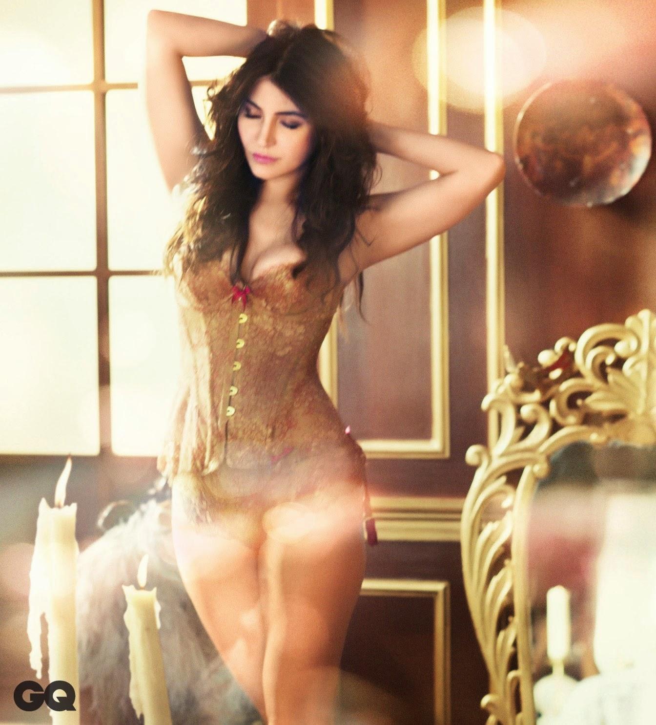 Anushka Sharma's Hour-glass Figure in sexy Corset in GQ Magazine