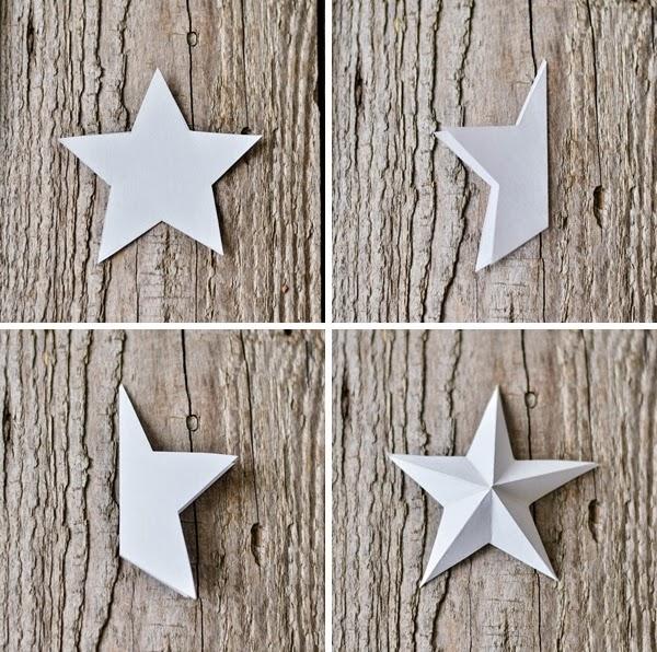 Decoraci n f cil diy corona de navidad con estrellas de - Estrellas de papel para navidad ...