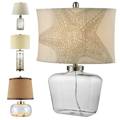 Fillable Glass Table Lamps from Caron's Beach House