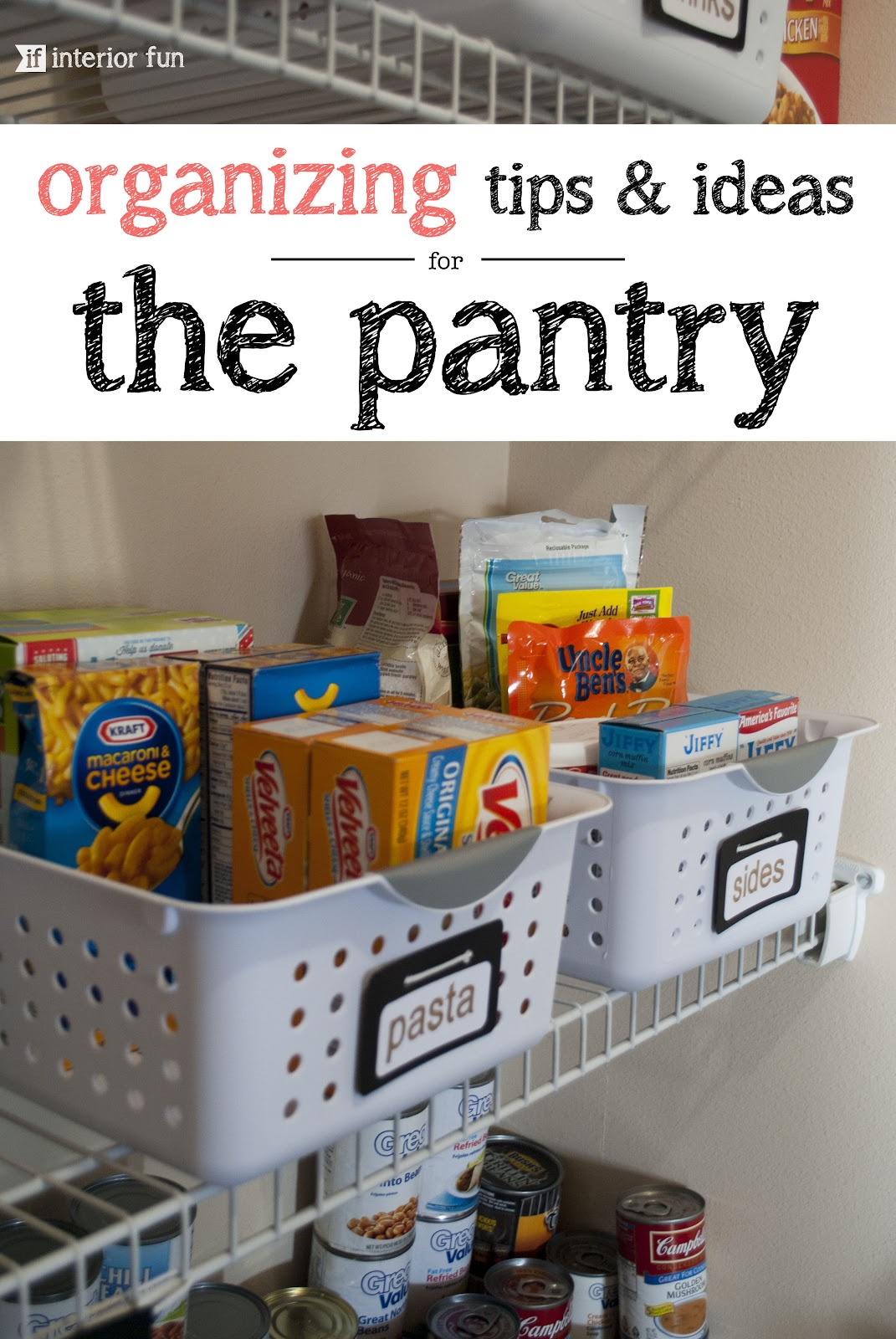 Interior Fun An Organized Pantry