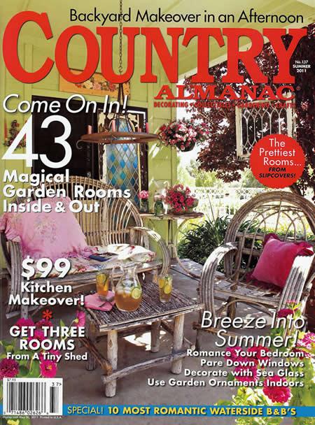 Country Almanac Small Room Decorating Magazine Image