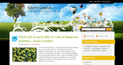 edensGarden personal blog template