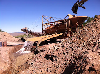 Placer mining in Montana