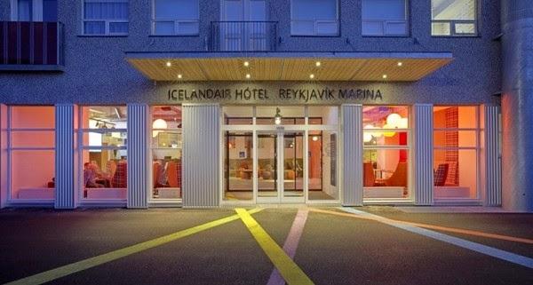 entrance to Icelandair Hotel Reykjavik Marina in Reykjavik, Iceland