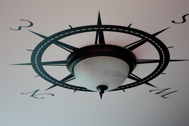 Mad For Mid Century Compass Ceiling Medallion For A