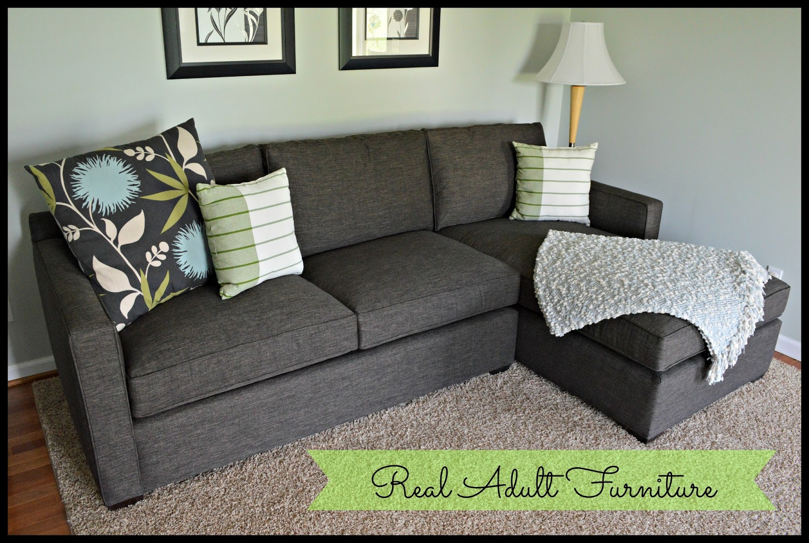 Couch: Crate U0026 Barrel Davis 2 Piece Sectional In Graphite