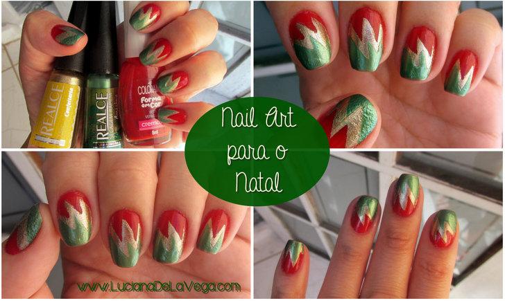 unhas decoradas para o natal, unhas artíticas, nail art christmas, esmalte vermelho, sete vermelha colorama forma em cor, esmalte realce