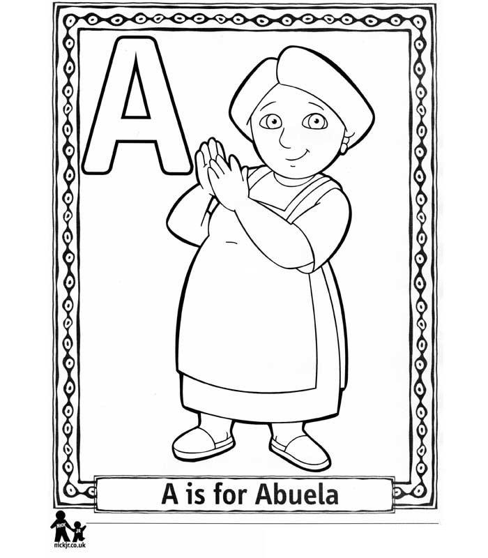 AUSMALBILDER - Deutschland: Ausmalbilder Dora Alphabet zum Ausdrucken