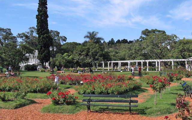 El Parque del Rosedal en Buenos Aires