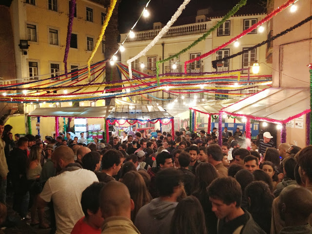 Street festa in Lisbon on Semi-Charmed Kind of Life