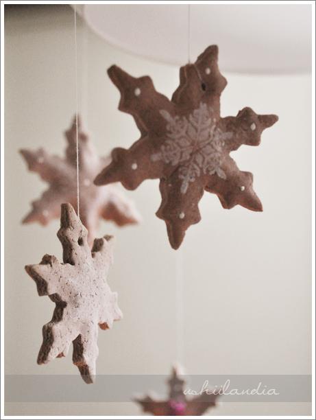boże narodzenie - piernikowe masosolne śniezynki