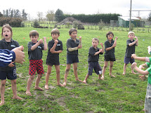 New Zealand School Barefoot Boys