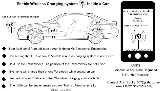 enable wireless charging system inside a car