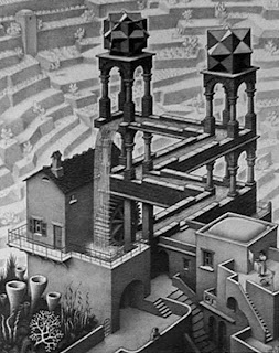Escher's waterfall illusion