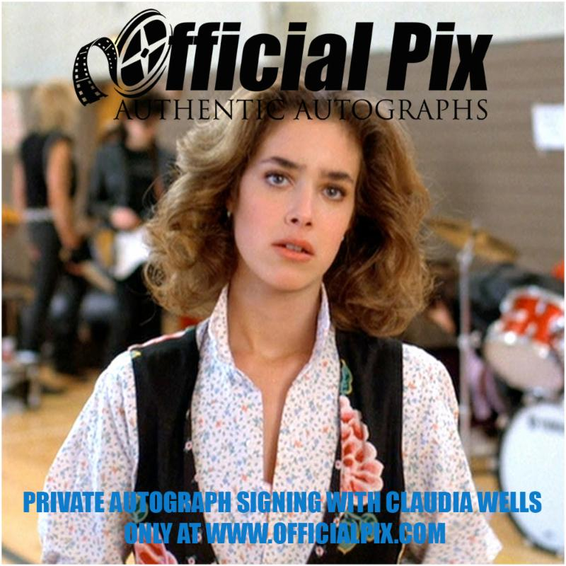 Claudia Wells Private Signing with Official Pix! Deadline is April 23.