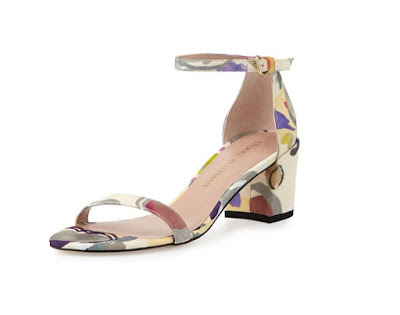 Stuart Weitzman printed low heeled sandals
