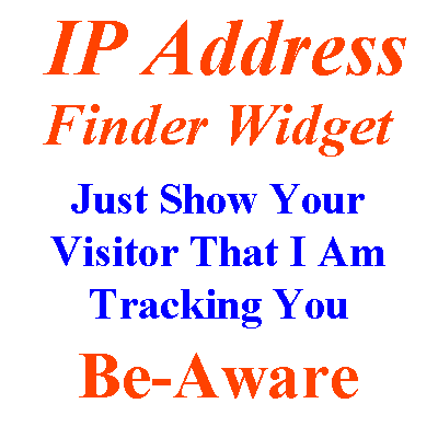 Embed IP Address Widget Of Visitor On Your Blog Or Site