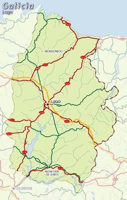 Lugo Mapa Ciudad de la Región