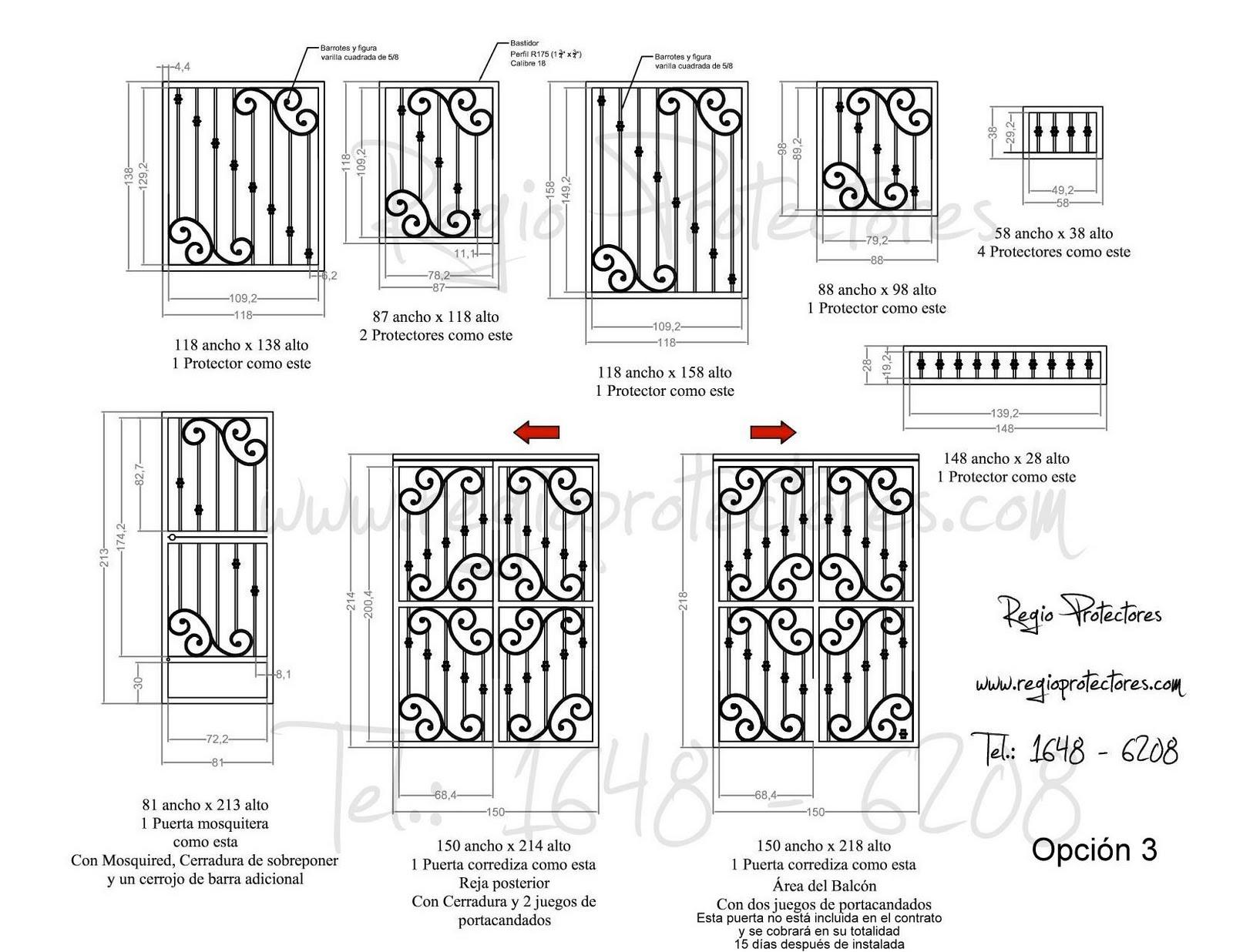 Protectores para ventana de hierro forjado, Fracc. Fuentes de Santa